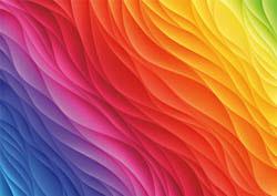 Rainbow Challenge Seascape / Coastal Living Large Piece