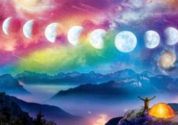 Moon Cycle Night Jigsaw Puzzle