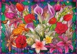 Window Lillies Flowers Large Piece