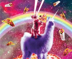 Laser Llama Kitty Unicorns Jigsaw Puzzle
