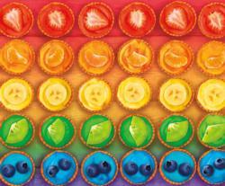 Rainbow Tarts Sweets Large Piece