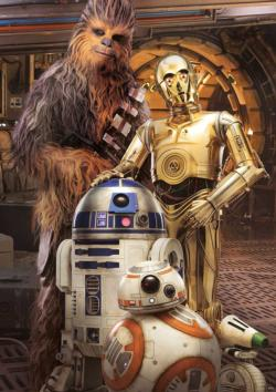 Chewbacca and the Droids Star Wars Large Piece