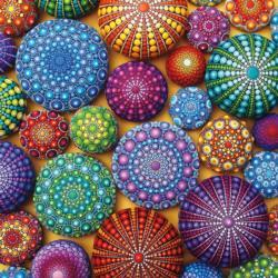 Mandala Stones Collage Large Piece
