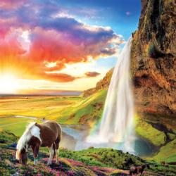 Icelandic Waterfall Waterfalls Jigsaw Puzzle