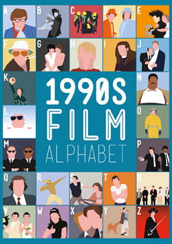 1990's Film Alphabet Movies / Books / TV Large Piece