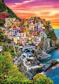 Earthpix - Cinque Terre Sunset Sunrise / Sunset Jigsaw Puzzle