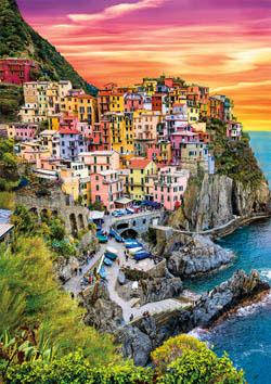 Earthpix - Cinque Terre Sunset Sunrise / Sunset Jigsaw Puzzle