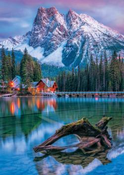 Canadian Rockies Cottage / Cabin Jigsaw Puzzle