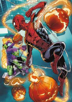 Spider-Man vs. Green Goblin Super-heroes Jigsaw Puzzle