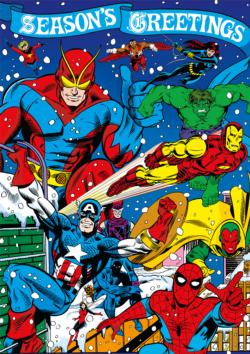 Seasons Greetings From The Avengers Super-heroes Jigsaw Puzzle