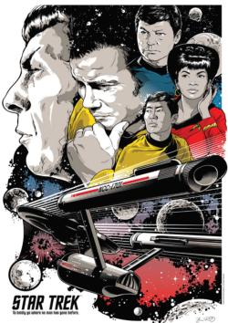 To Boldly Go Where No Man Has Gone Before Sci-fi Jigsaw Puzzle