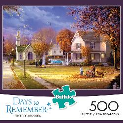 Street of Memories (Days to Remember) - Scratch and Dent Churches Jigsaw Puzzle