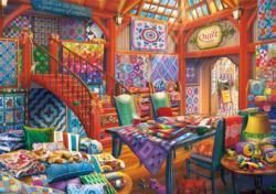 Quilt Shop Crafts & Textile Arts Jigsaw Puzzle