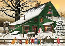 Cocoa Break at the Copperfields Americana & Folk Art Jigsaw Puzzle