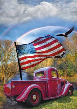 Old Glory Americana & Folk Art Jigsaw Puzzle