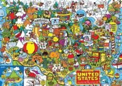 US Landmarks Collage Jigsaw Puzzle
