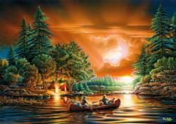 Evening Rendezvous Sunrise / Sunset Jigsaw Puzzle