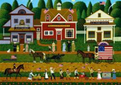 Young Patriots Americana & Folk Art Jigsaw Puzzle