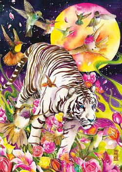 Tiger Moon Fantasy Jigsaw Puzzle