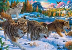 Running with the Pack Wolves Jigsaw Puzzle