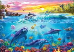 Magnificent Undersea World Dolphins Jigsaw Puzzle
