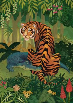 Tiger and Crocodile Tigers Jigsaw Puzzle