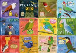 Rare Birds Collage Jigsaw Puzzle