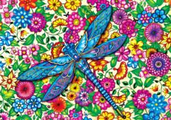 Dragonfly (Secret Garden) Adult Coloring Pages Included Jigsaw Puzzle