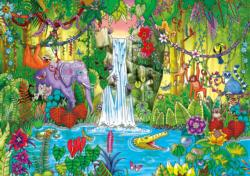 Magical Jungle Waterfalls Jigsaw Puzzle
