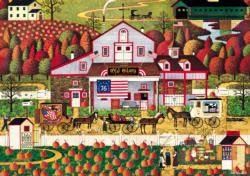 Autumn Farms - Scratch and Dent Folk Art Jigsaw Puzzle