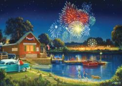 Spirit of Summer (revised) Fireworks Jigsaw Puzzle