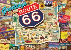 Route 66 (revised) Collage Jigsaw Puzzle