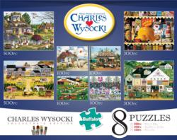 Charles Wysocki 8-in-1 Collectors Edition Multipack Puzzles Folk Art Multi-Pack