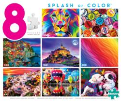 8-in-1 Splash of Color Puzzle Collage Multi-Pack