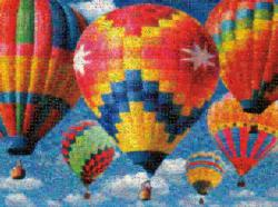 Balloon Race Balloons Photomosaic Puzzle