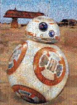 Photomosaic Star Wars Episode VII BB-8 Sci-fi Photomosaic
