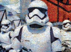 Photomosaic Star Wars Episode VII First Order Storm Troopers Sci-fi Photomosaic
