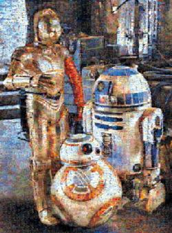 Droids of the Resistance Star Wars Photomosaic