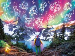 Zodiac Mountain - Glow in the Dark Fantasy Jigsaw Puzzle