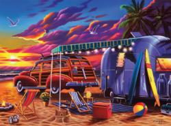 Beach Camp Sunrise / Sunset Jigsaw Puzzle
