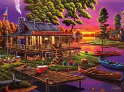 Stephanie's Canoe Rental Sunrise / Sunset Jigsaw Puzzle