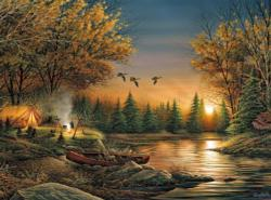 Evening Solitude Sunrise / Sunset Jigsaw Puzzle