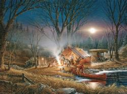 Campfire Tales Landscape Jigsaw Puzzle