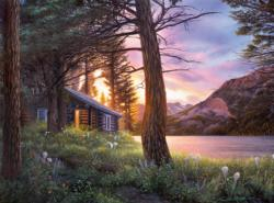 Blissful Solitude Cottage / Cabin Jigsaw Puzzle