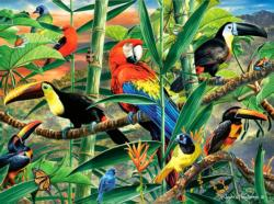 Rainforest Menagerie Jungle Animals Jigsaw Puzzle