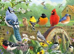 Railbird Reunion Flowers Jigsaw Puzzle