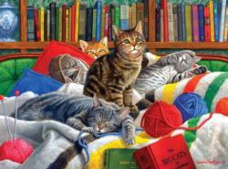 Library Kitties Library / Museum Jigsaw Puzzle