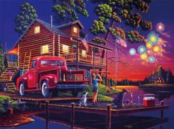 Classic Summer Night Lakes / Rivers / Streams Jigsaw Puzzle