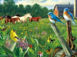 Country Meadow - Scratch and Dent Horses Jigsaw Puzzle