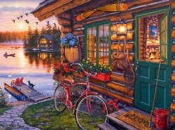Summertime Cottage / Cabin Jigsaw Puzzle